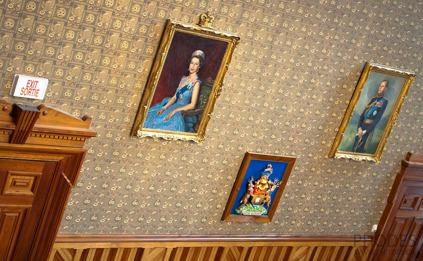Portrait of the Queen Elizabeth II in House of Commons of New Brunswick