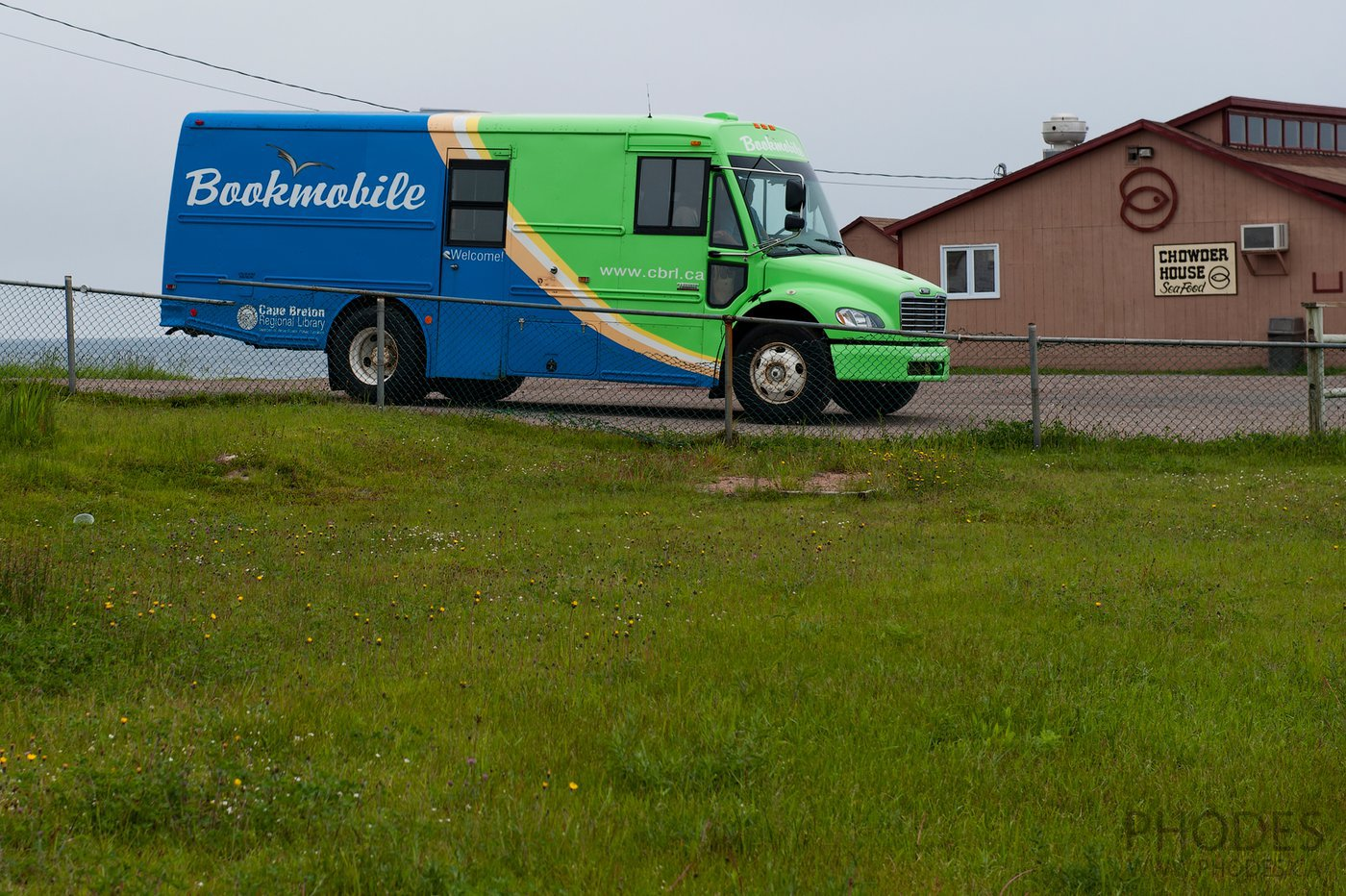 Bookmobile on Cape Breton Island in Nova Scotia