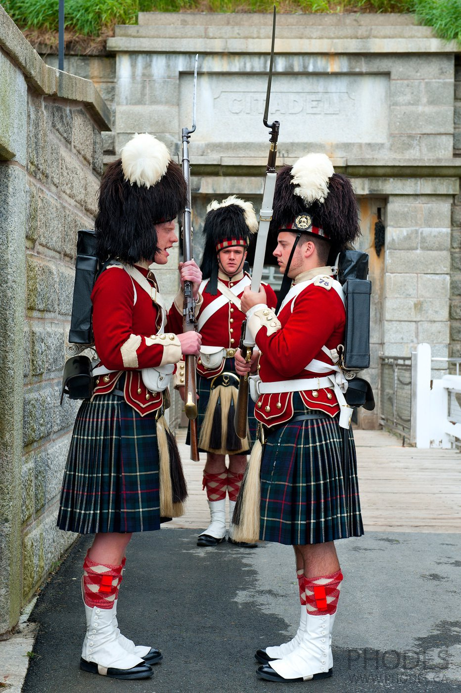 Changing of guards in Halifax Citadel