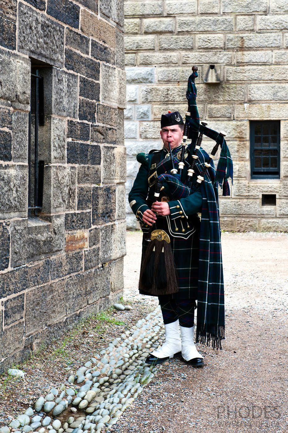 Piper in Halifax citadel