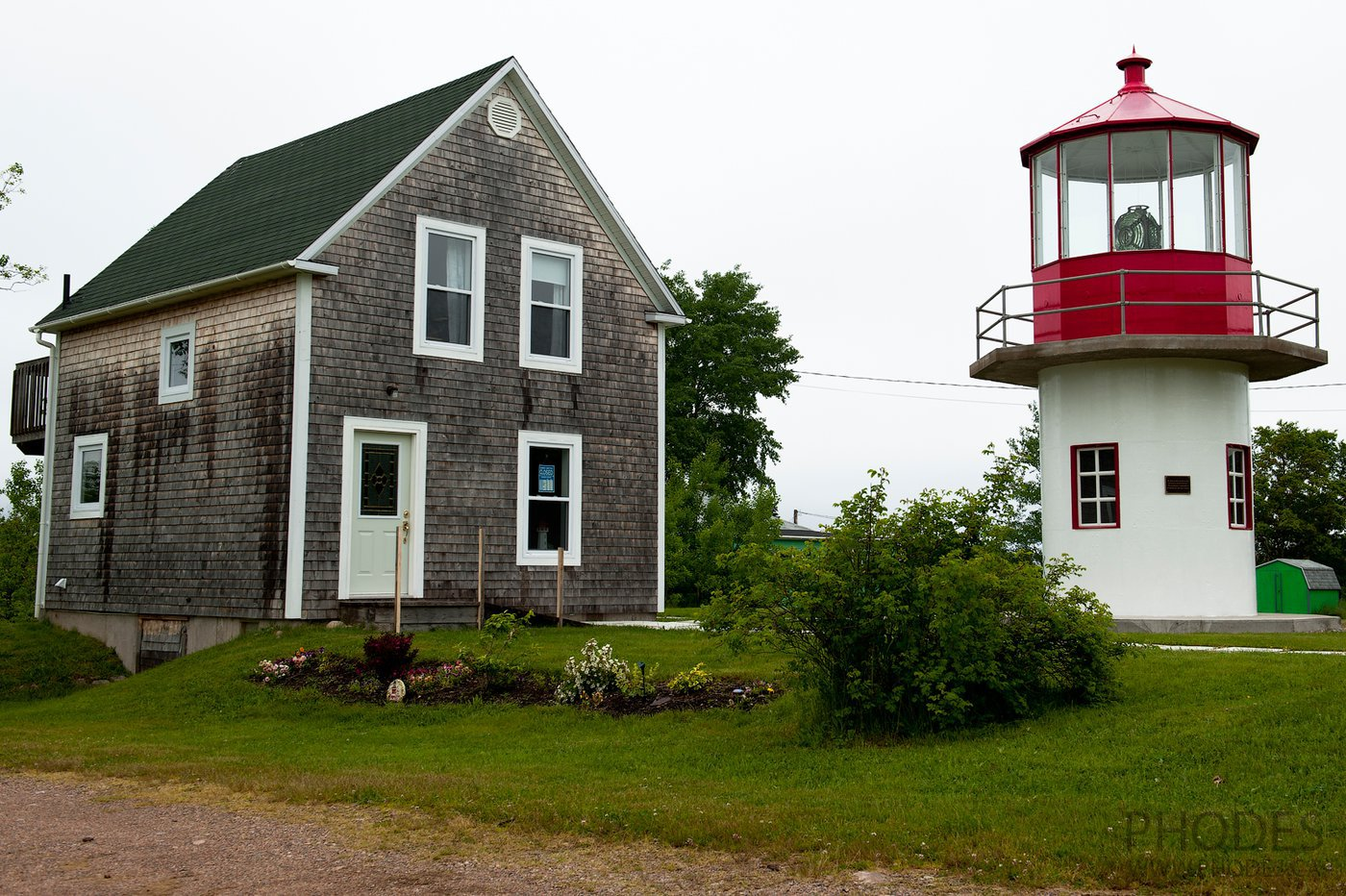 Lighthouse-museum on Cape Breton Island in Nova Scotia