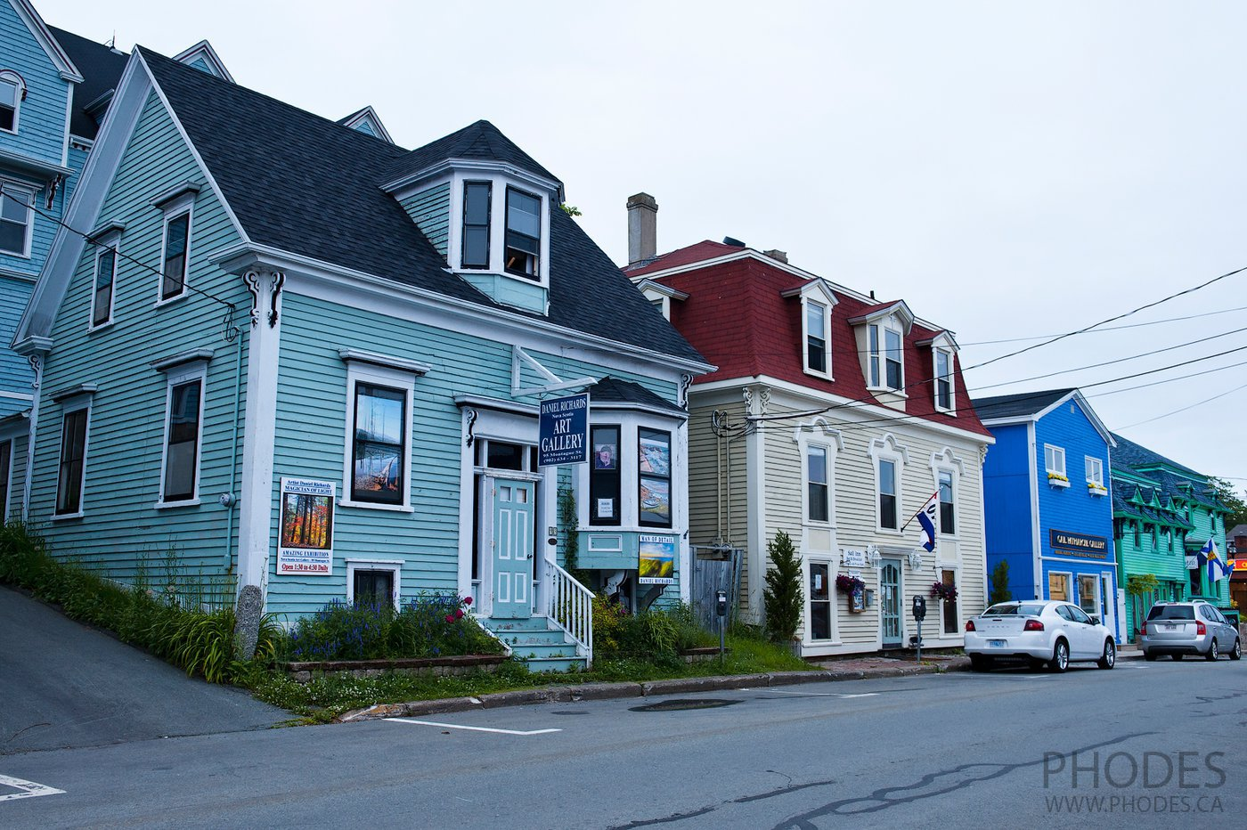 Houses in Lunenburg in Nova Scotia