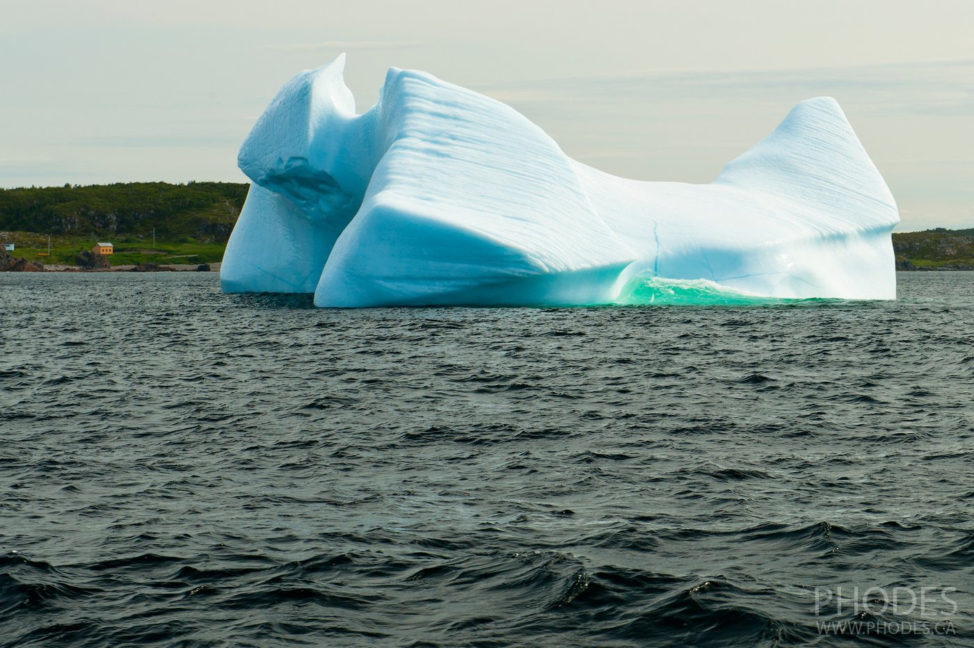 Iceberg in the shape of Transformer in Twillingate - Newfoundland