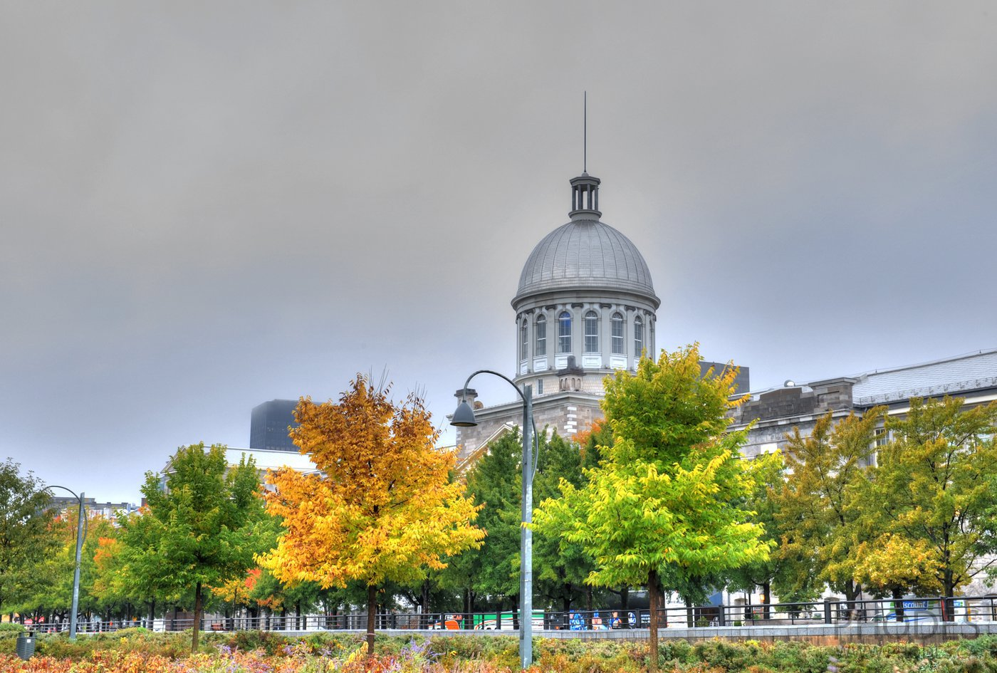 Bonsecours market in fall, Old Port, Montreal