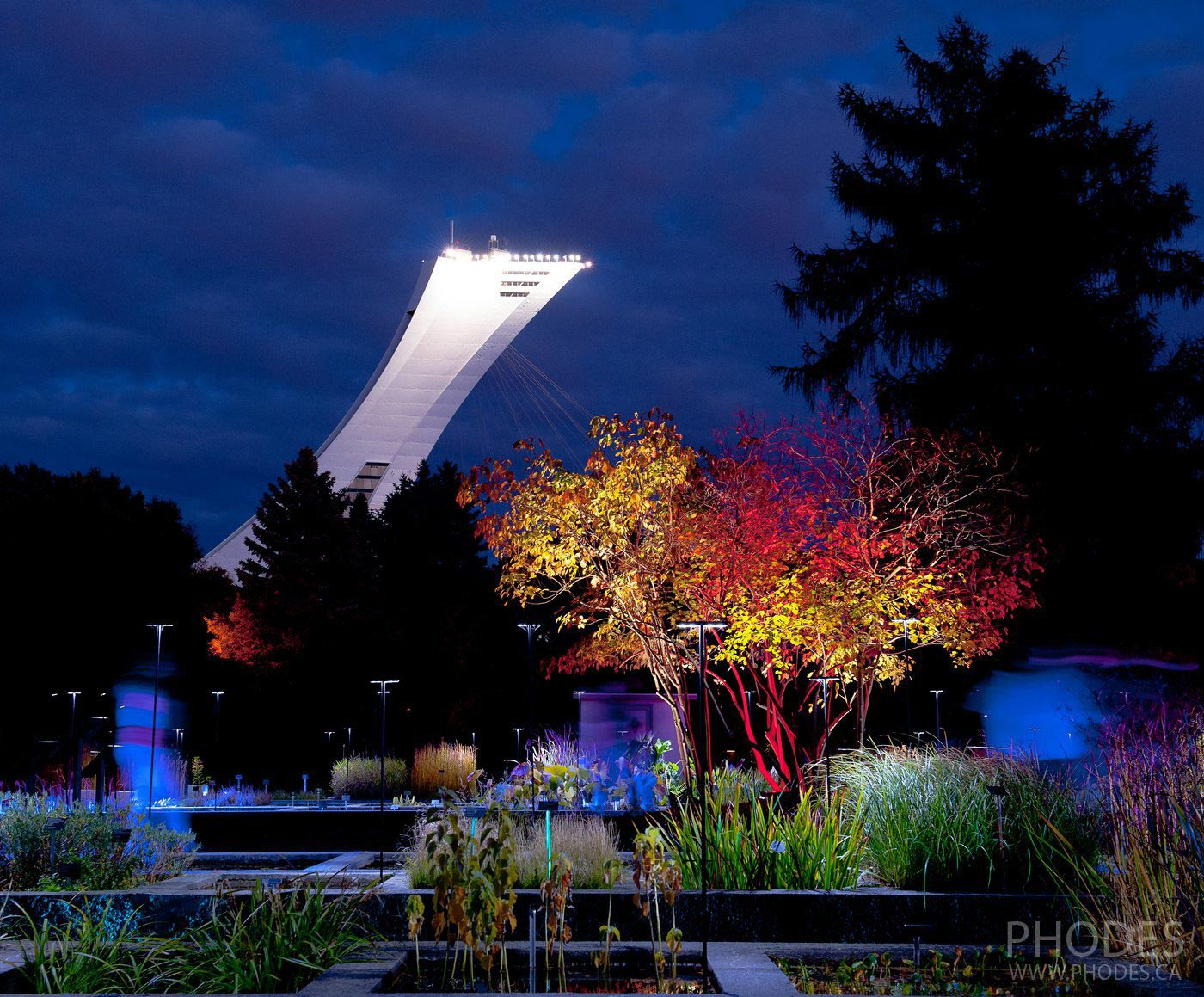 Olympic stadium from Botanical garden, Montreal