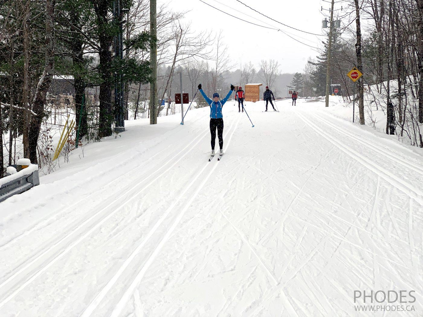 Cross country classic skiing in National Park Mont Orford