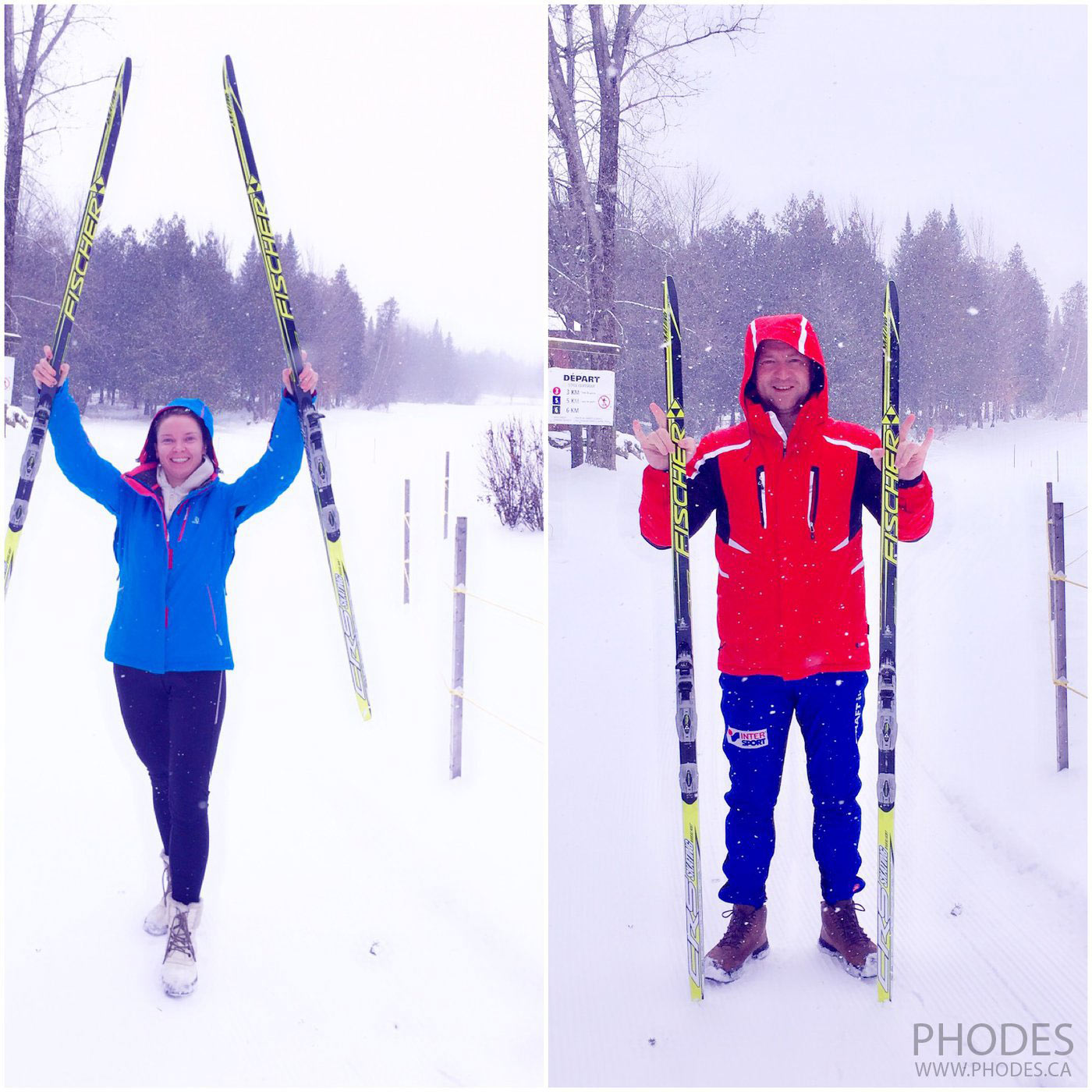 Cross country skiing in Club de golf Les Cedres