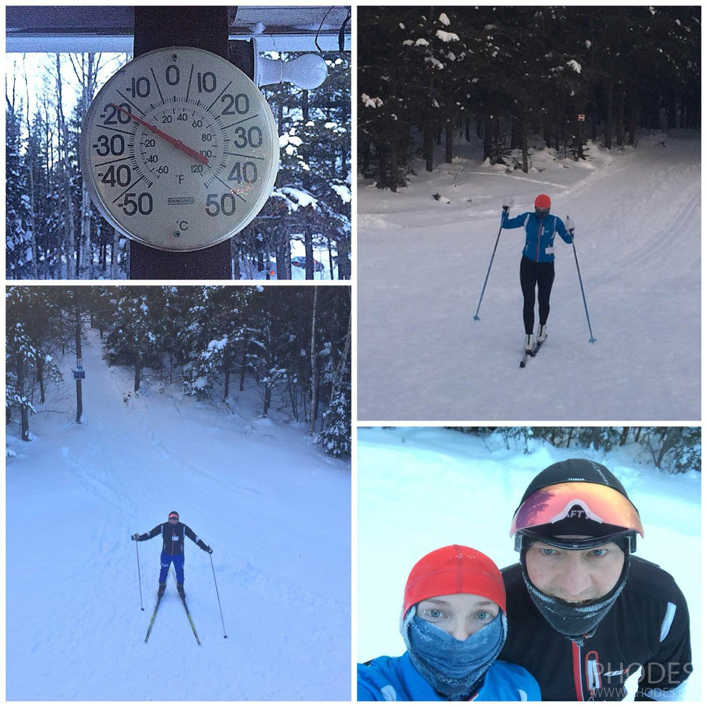 Cross country ski in Base de Plain Air Les Source Joyeuses in La Malbaie