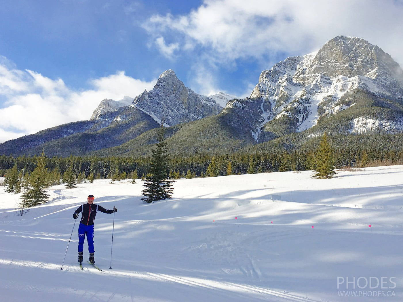 Cross-country skiing in Canmore Nordic Center