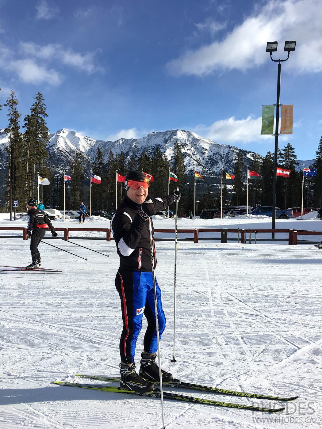 Cross-country stadium in Canmore Nordic Center