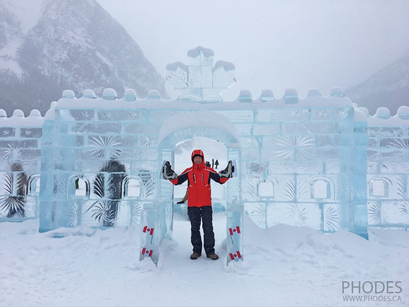 Ice Magic festival on Lake Louise in Banff