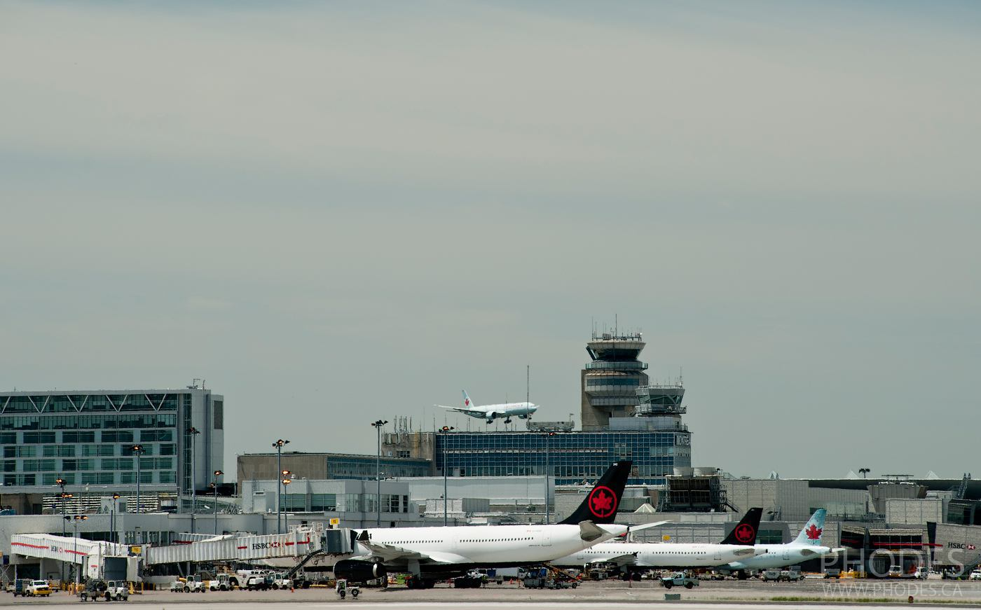 Airport Montreal view from Jacques-de-Lesseps observatory park